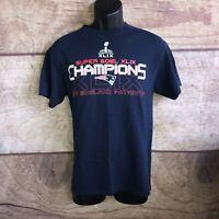 New England Patriots T Shirt Men's Size Medium Super Bowl XLIX Champions (A70)