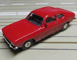 For H0 Slotcar Racing Model Railway Ford Capri With Flat Chain Motor