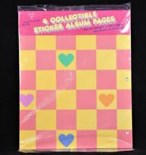 "1984 Hallmark Four Double Side 11"" X 9"" Sticker Album Refill Pages"