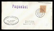1956 BRAZIL PAQUEBOT SHIP ALHENA BREMEN GERMANY TO USA