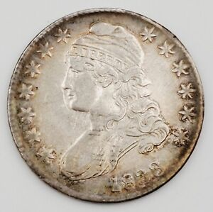 1833 United States Silver Capped Bust Lettered Edge Half Dollar Coin 13.5g