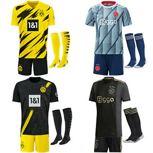 2021 Soccer Shirt Short Jersey Kids Boys Football Full Kits Sports Outfits