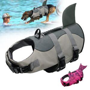 Dog Life Jacket Pet Swimming Aquatic Vest Safety Clothes Preserver Size S M L