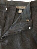 Banana Republic 34 x 30 Gray Emerson Heavy Cotton Blend Flannel Pants