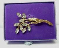 VIntage Costume jewellery Paced Set brooch spray  Flowers Brooch 6.5 Cm's