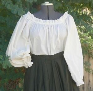 GYPSY BLOUSE VICTORIAN/CIVIL WAR/STEAMPUNK/THEATER ALL SIZES & COLOURS