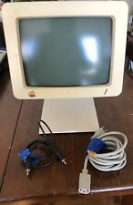 Vintage Apple Computer Display A2M4090 + Stand + Cables