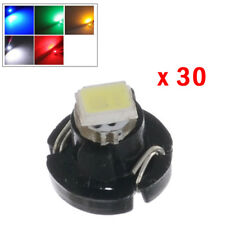 30X 12V T3 Neo Wedge LED Instrument Cluster Panel Lamp Gauge Bulbs A/C Light Top