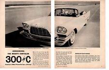 1957 CHRYSLER 300 C ~ ORIGINAL 2-PAGE PRINT AD
