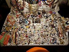 ESTATE VINTAGE & MODERN FASHION COSTUME Jewelry Lot Trifari Monet Sterling 752pc