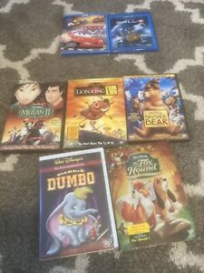 5 Disney DVD Lot: Mulan, Lion King, Dumbo, Brother Bear, Fox and Hound