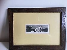 "David Itchkawich Etching 1970""s Print 29/75 Fine Art Framed "" The Creep"""