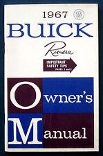 Owner's manual * Manuel 1967 BUICK Riviera (USA)