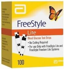 100 FreeStyle Lite Diabetic Test Strips EXP 08/2018 - FREE SHIPPING - ON SALE