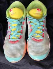 Nike KD 12 EYBL Peach Jam - Teal Tint/Red Orbit-Photo Blue - Mens Size 10.5