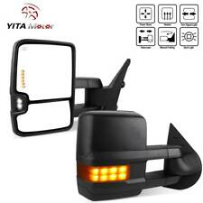 Yitamotor Pair Tow Mirrors Power Heated for 07-13 Chevy Silverado Sierra Nnbs
