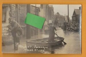 Dorset- Kings Road, Swanage.  Flood March 9th 1914.  G. Cox   Postcard