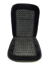 Black Wooden Beaded Cushion Plush Velvet Seat Cover