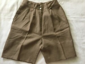 Never Worn - WomenCarole Little 100% Linen Walking Shorts ~ Sz 10