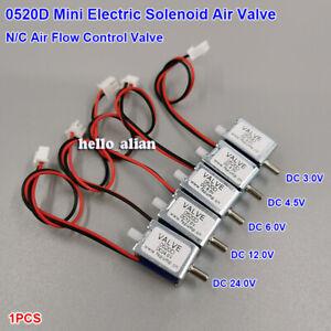 0520D Micro Electric Solenoid Air Valve DC3V 4.5V 6V 12V 24V N/C Normally Closed