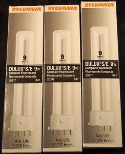 3 NIB Sylvania Dulux S/E 9w 2G7 841 20317 compact fluorescent lamp