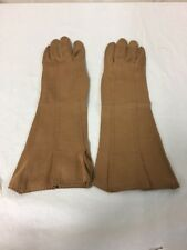 Iola Weinberger Womens Brown Leather Gloves Sz 6 1/2