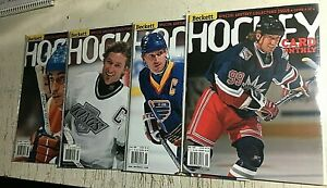 Lot of 4 Beckett Magazine Gretzky Covers  Oilers Kings Blues Rangers