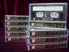 ⭐️ ⏏️ 10x BASF CR-S 90 . Top 1986 . Kassette IEC II . Chrome . カセット . Cassette