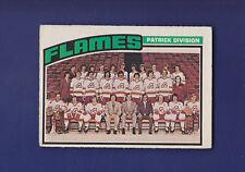 Atlanta Flames Team Checklist (Unmarked) 1976-77 O-PEE-CHEE Hockey #132 (EX)