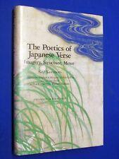 Poetics of Japanese Verse Koji Kawamoto 1st Ed HCDJ Hardcover Haiku Poetry
