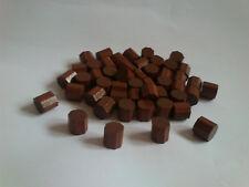 50 Achtecke * HOLZ SPIELSTEINE * Bastelmaterial * in braun 10 x 10 mm * NEU