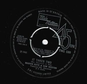 MARVIN GAYE AND KIM WESTON It Takes Two Vinyl Record 7 Inch Tamla Motown & 1967