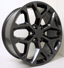 New Set 22 inch Black Snowflake Wheels Rims fits 2000-18 GMC Sierra Yukon Denali