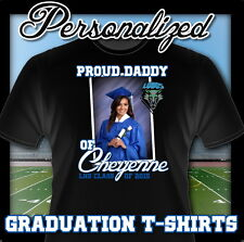 NEW CUSTOM PERSONALIZED High School Graduation Grad T SHIRT PARTY FAVOR ADD NAME