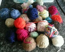 Bundle 200g Joblot Of Wool Great For Granny  squares ,Craft ,  dolls clothes etc