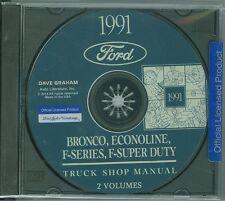 1991 Ford Truck Shop Manual On Cd-Bronco, Econoline, F-Series, F-Super Duty
