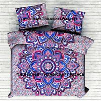 Indian Cotton Mandala Queen Bed Set Quilt Duvet Cover Blanket Doona Cover Pillow