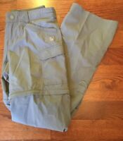 The North Face Women's Gray Convertible Pants Shorts 100% Cotton Size 8
