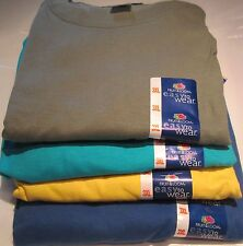 Fruit of The Loom T-Shirts 3XL 8 Pc lot 4 colors 100 % Cotton Tee  Moss Royal