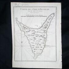 Carte de l'Isle d'Anjouan Une des Isles de Comore par le Cap. Cornwal