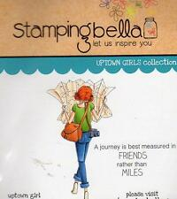 New Stamping Bella Cling Rubber Stamp UPTOWN GIRL MELINDA HAS A MAP FREE US SHIP