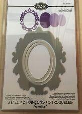 Sizzix Framelits 3 Dies Frame Oval Ornament Edges Rahmen Big Shot / Pro 657558