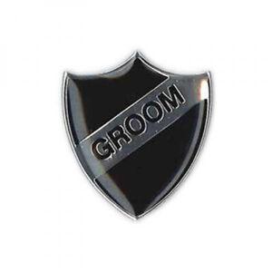 Groom Black Retro Stag Night Enamel School Lapel Pin Badge XSB019