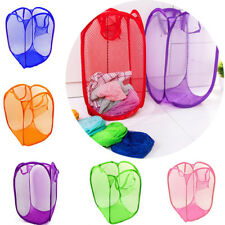 Mesh Storage Case Folding Pop Up Laundry Basket Hamper Washing Clothes Bag