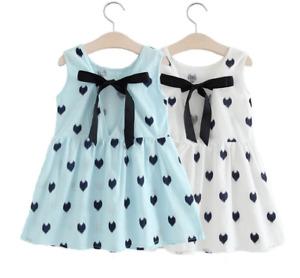 1pc infant baby clothes girls summer cotton dress kids girls casual dress heart