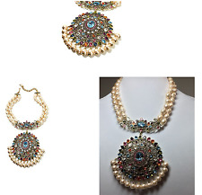 Heidi Daus I Have Arrived 2-Row Stimulated Pearl Crystal Drop Necklace SWAROVSKI