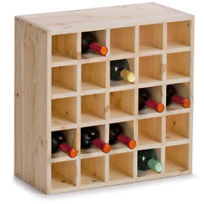 Zeller 13172 Casier À vin en bois Naturel 52 x 25 cm