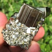 127g Rare&Raw Natural Iron Pyrite Cube Nugget Native Rough Specimen Peru ia0439