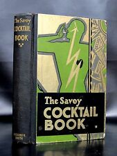 SAVOY COCKTAIL BOOK 1930 1st Ed Mixed Drinks Bartending Bar HARRY CADDOCK vtg