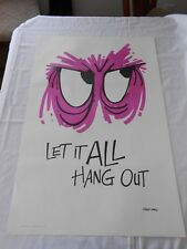 "Signed Reese James 1970's Let it All Hang Out Poster NOS LrG 35""x 23"" Vagabond"